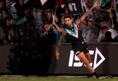 Port Adelaide claim a top-four spot in hard-fought win over Melbourne