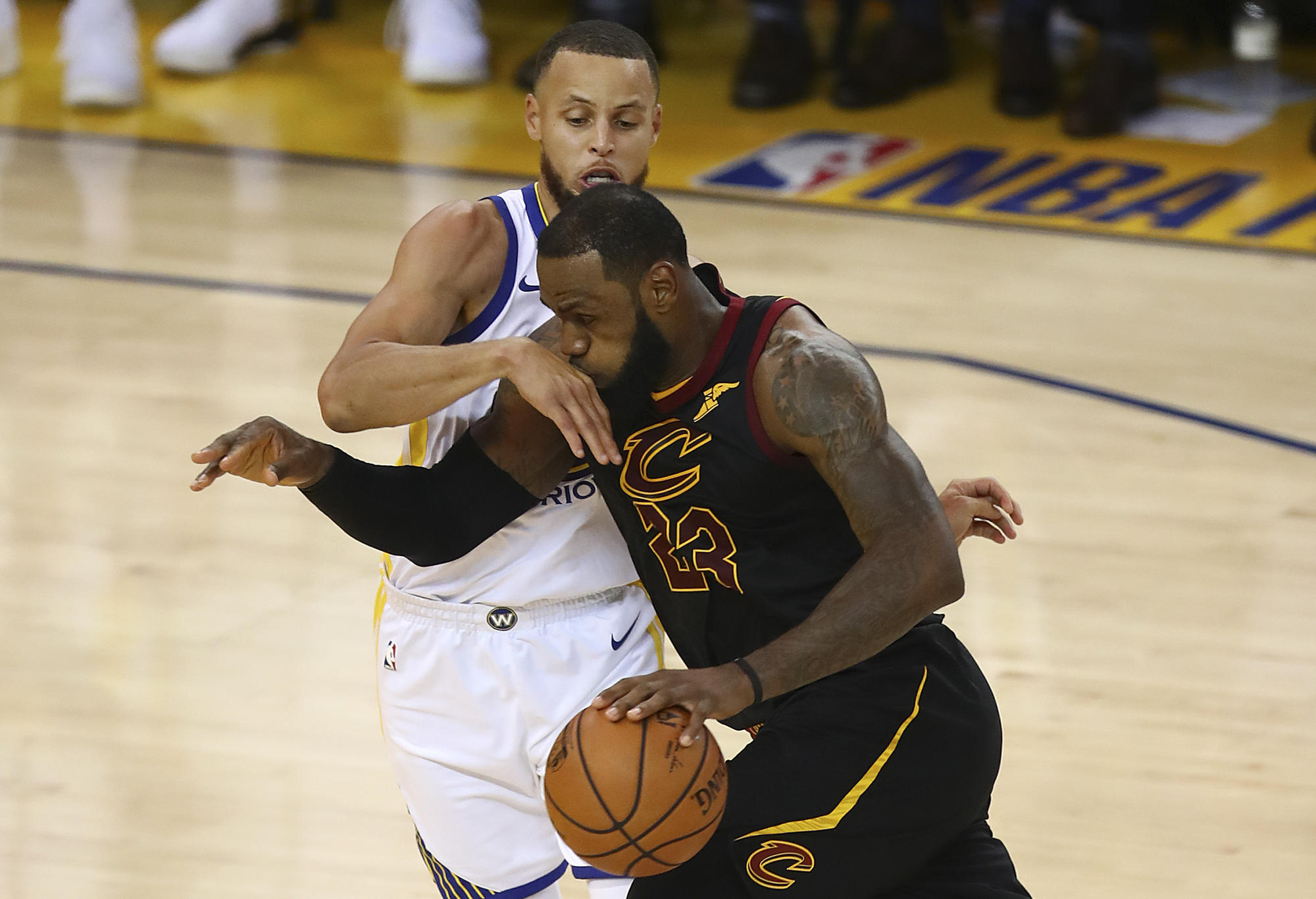 LeBron James and Steph Curry, NBA Finals.