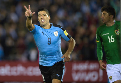 Uruguay qualify for the second round with win over improved Saudi Arabia