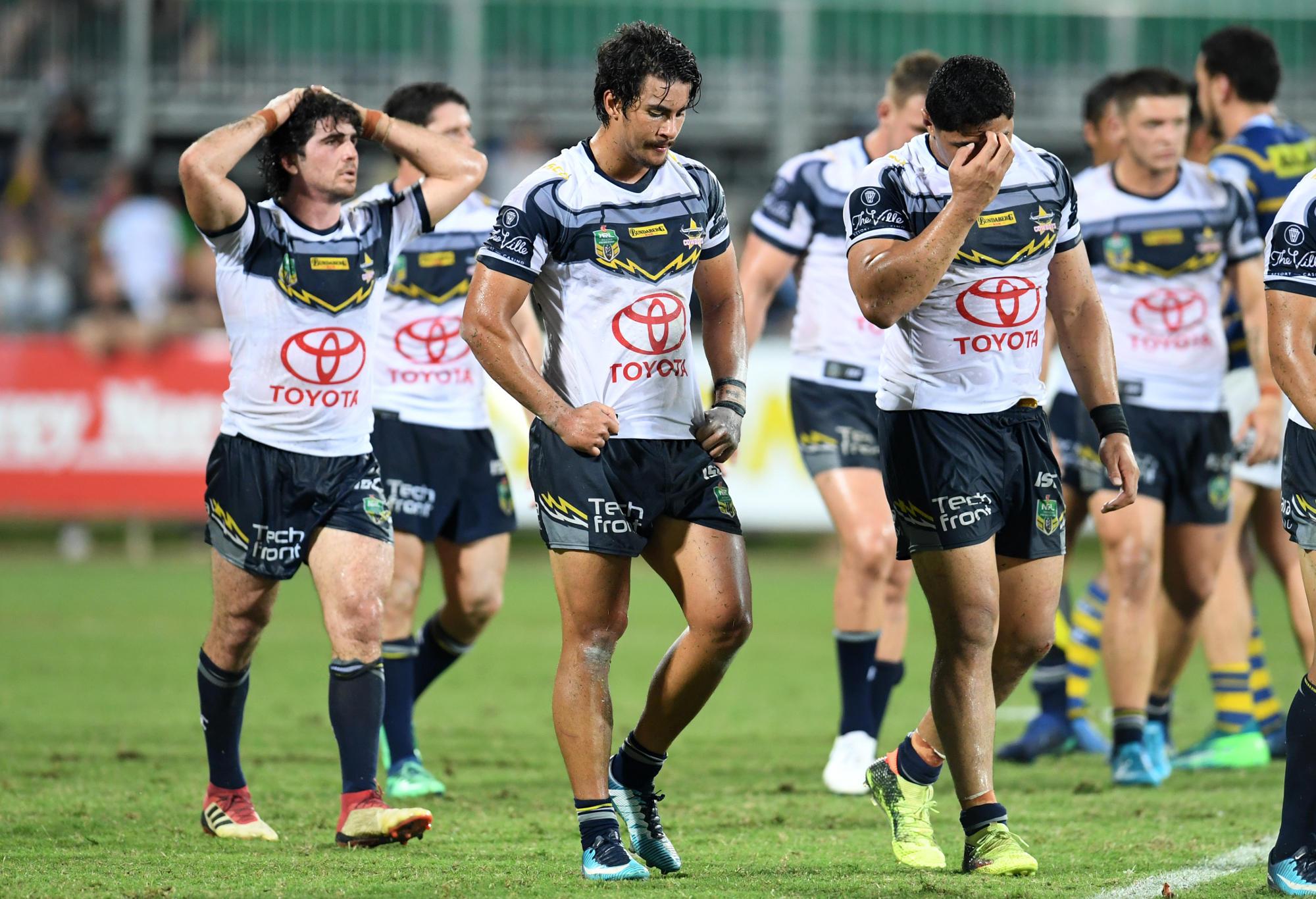 North Queensland Cowboys loss to Parramatta Eels.
