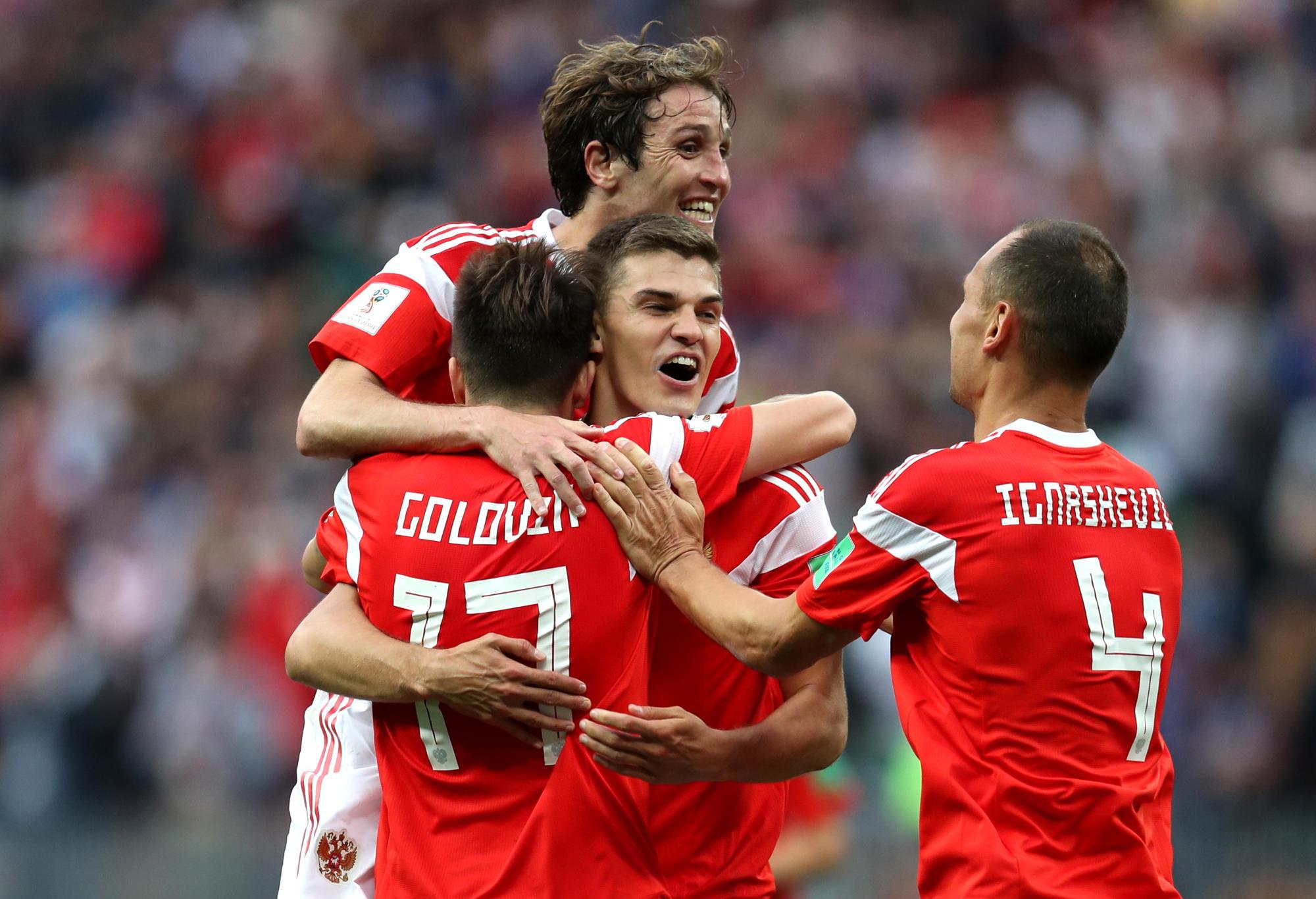 Russia beat Saudi Arabia in the World Cup Opener