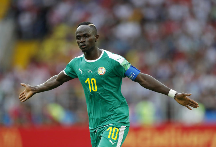 Sadio Mane of Senegal during the 2018 FIFA World Cup Russia group H match between Poland and Senegal at the Otkrytiye Arena on June 19, 2018 in Moscow, Russia
