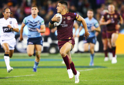 WATCH: Valentine Holmes scores Queensland's first try State of Origin 2018 Game 1
