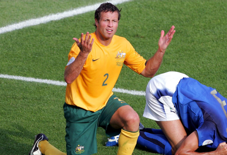 Lucas Neill after giving away that penalty to Fabio Grosso