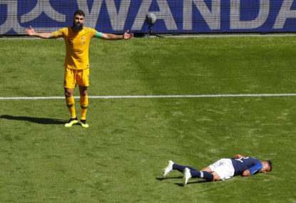 Brave Socceroos fall to France in thrilling World Cup opener