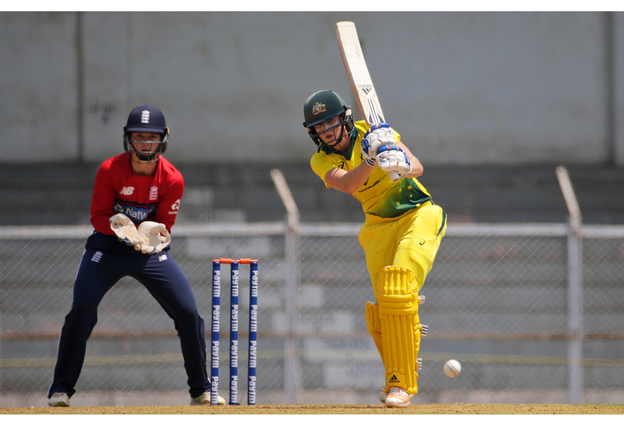 Australia's Ellyse Perry bats during the Women's T20 Triangular Series.