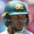 Australia's Usman Khawaja gestures to the crowd after scoring his 150 runs.