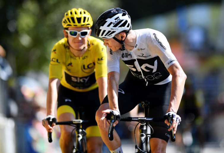 Chris Froome and Geraint Thomas at the Tour de France.