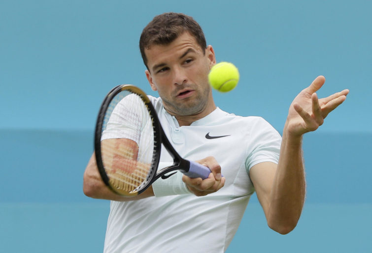 Grigor Dimitrov at Queens Club