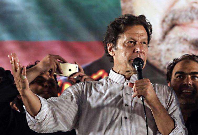 Imran Khan campaigning