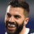 James Tedesco of the Roosters reacts after scoring a try against the Dragons.