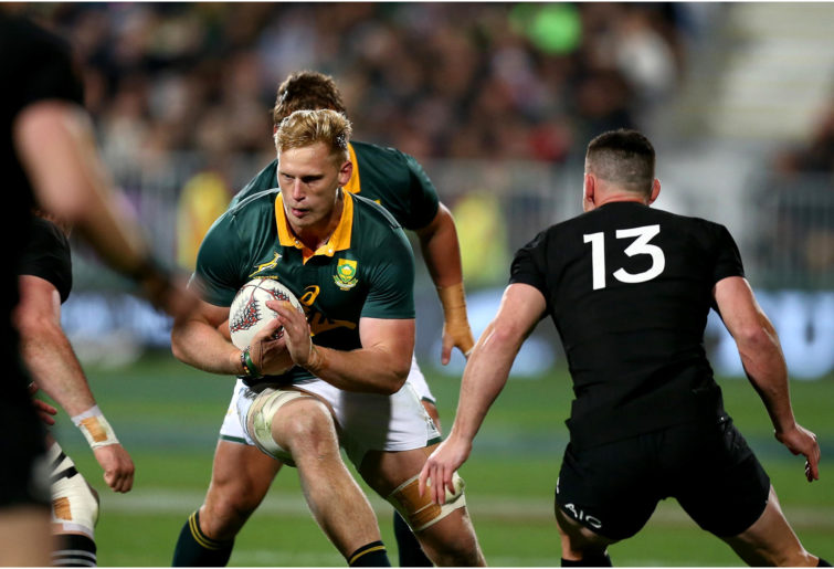 Jean-Luc du Preez of South Africa during the international test rugby match against the New Zealand All Blacks.