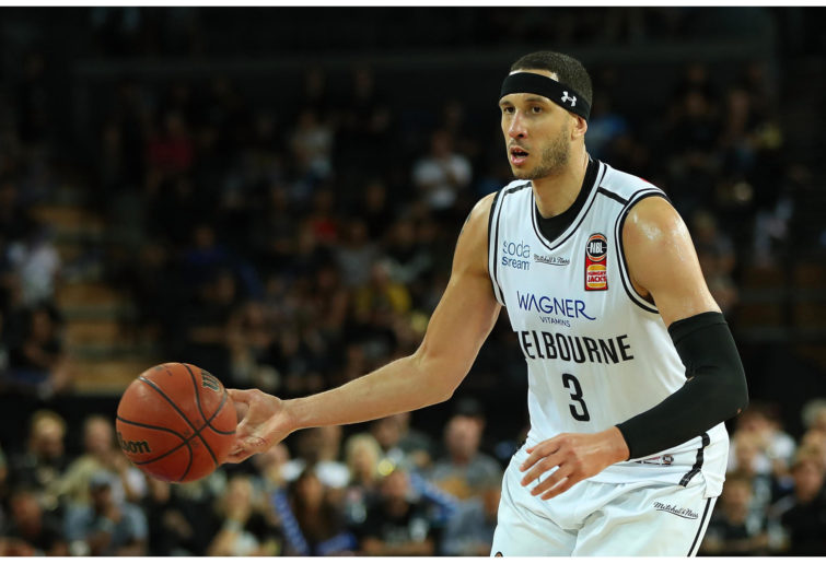 Josh Boone of United during the NBL semi-finals match against the New Zealand Breakers.