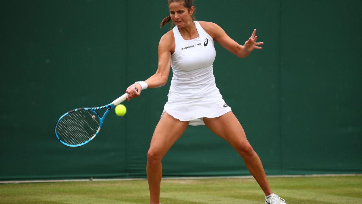 Kiki Bertens Vs Julia Goerges Wimbledon Women S Quarter
