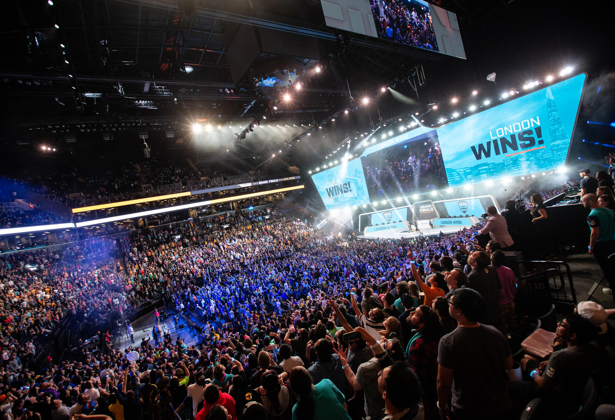 The Barclays Center erupts as the London Spitfire claim the inaugural Overwatch League esports championship.