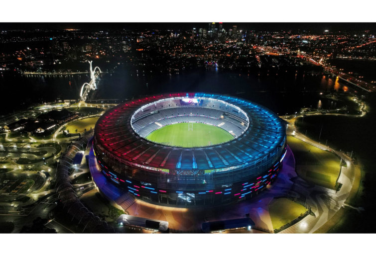 Perth's new Optus Stadium will light up 2019's State of Origin decider.