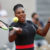 Serena Williams plays at the French Open.