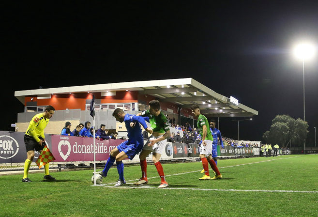 A general view during the FFA Cup round of 32 match between Avondale FC and Marconi Stallions