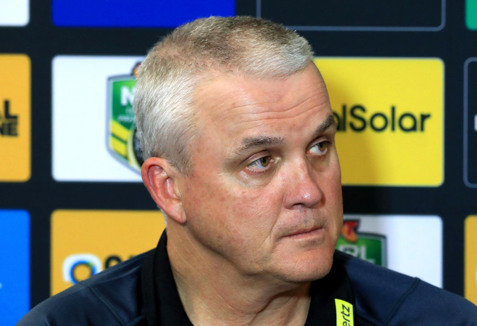 Former Penrith coach Anthony Griffin at a press conference.