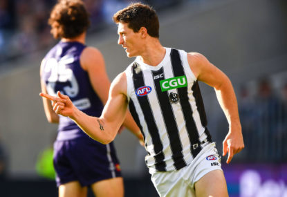 Pies secure top-four spot in a fracas with Freo