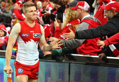 Swans blitz Giants in Sydney derby