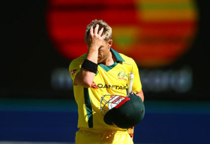 WATCH: Warner out for a duck in disastrous return to top order
