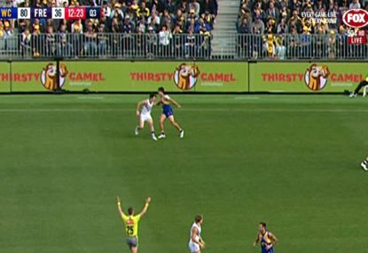 West Coast Eagles vs Fremantle Dockers: Andrew Gaff's shocking haymaker on Andrew Brayshaw causes derby chaos