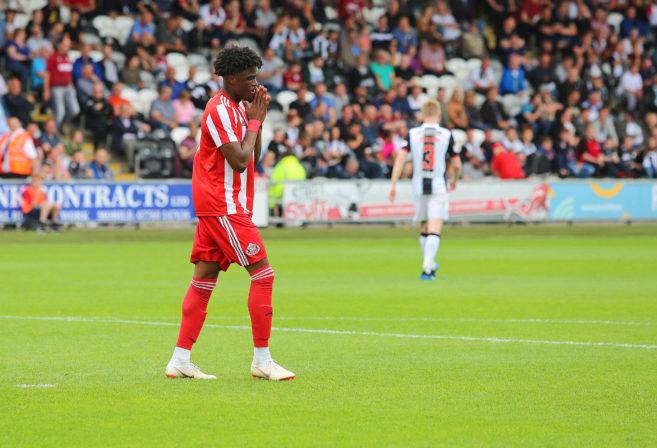 Josh Maja of Sunderland celebrates