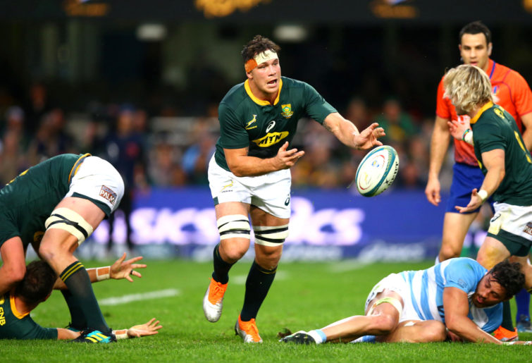 Francois Louw of South Africa during the Rugby Championship match between South Africa and Argentina.