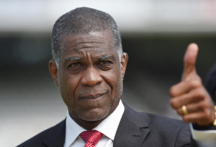 Michael Holding of Sky Sports during day one of the 3rd Investec Test match between England and Sri Lanka at Lord's Cricket Ground on June 9, 2016 in London, United Kingdom.