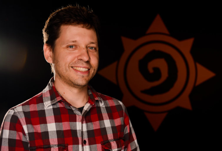 Hearthstone game designer Mike Donais.