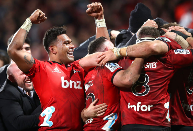 Canterbury Crusaders celebrate a win.