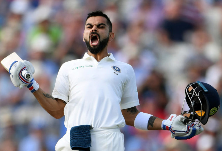 Virat Kohli celebrating