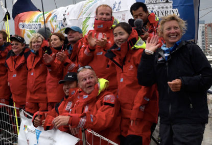 Wendy Tuck makes sail history