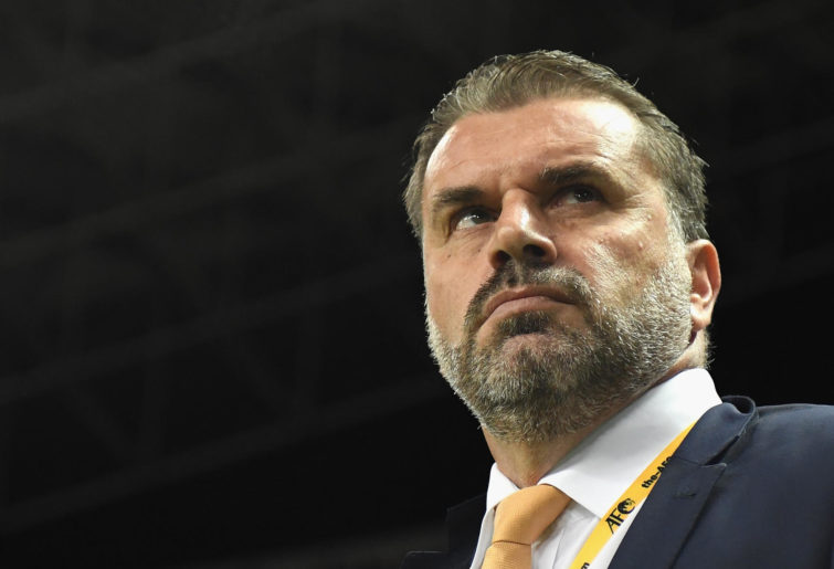 Head coach Ange Postecoglou of Australia looks on