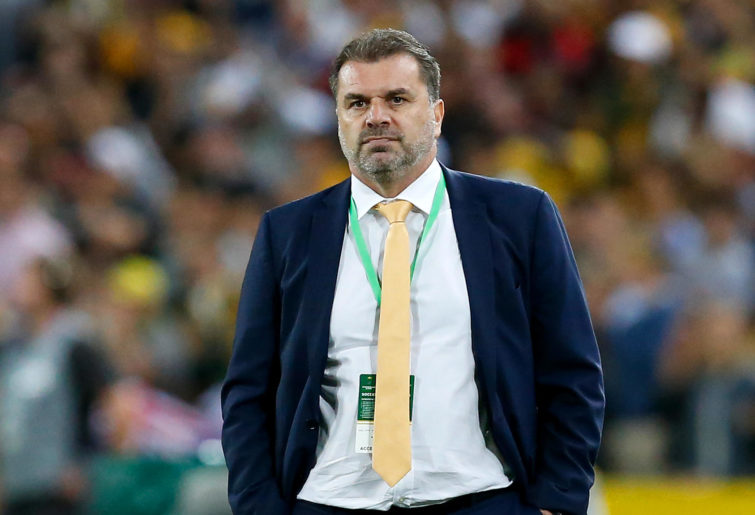Ange Postecoglou of Australia looks relieved