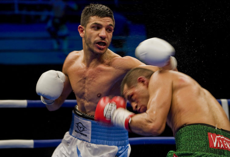 Billy Dib lands a punch