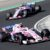 Force India driver Esteban Ocon of France takes a curve followed by teammate Sergio Perez of Mexico during the Hungarian Formula One Grand Prix, at the Hungaroring racetrack in Mogyorod, northeast of Budapest, Sunday, July 29, 2018. (AP Photo/Laszlo Balogh)