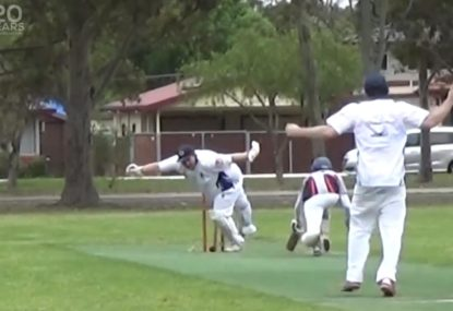 The funniest park cricket wicket you'll ever see!