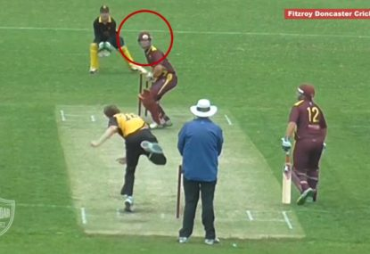 Batsman channels The Matrix to avoid wild beamer