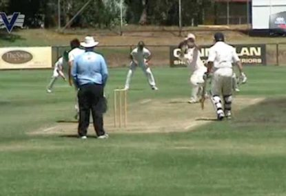 Cricketer throws the bat further than the ball