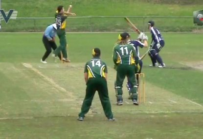 Incredible reflexes for stunning caught and bowled