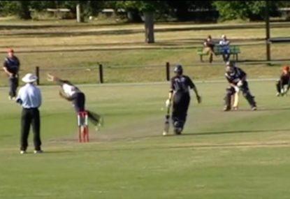 Batsman invents insane new cricket shot, sends it for 6!