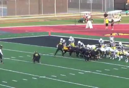 You've never seen an American football play like this