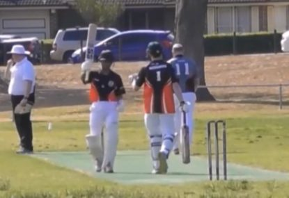 15-year old sizzles his way to half-century