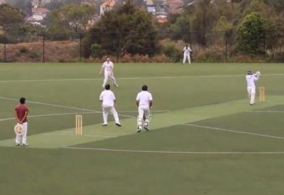 Fielder shows nerves of steel to reel in high ball