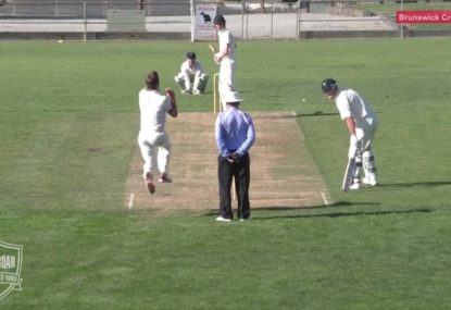 Teenage debutant's savage entrance to park cricket