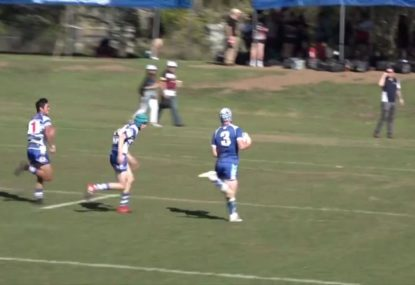 One of the fastest players you'll see in junior rugby league