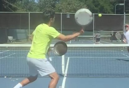 The crazy art of frying pan tennis?
