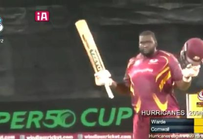 140kg West Indian all rounder smashes 10 sixes in BRUTAL knock